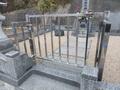 お墓のイノシシ防護柵兼用のステンレス門扉