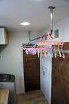 ランドリールームのステンレス物干しハンガーパイプ「HOSSII」